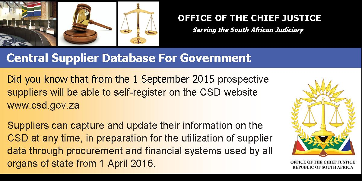 central supplier database for government ad